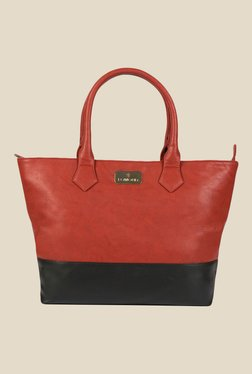 Lomond LM215 Dark Red Solid Tote Bag