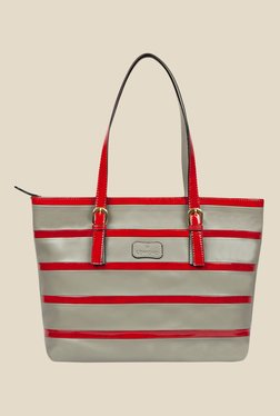 Lomond LM28 Grey and Red Striped Tote Bag