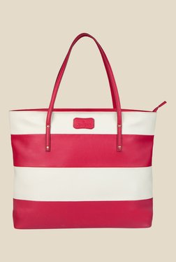 Lomond LM158 Pink And White Striped Tote Bag