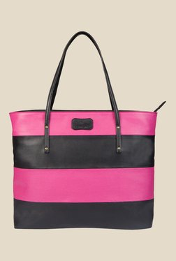 Lomond LM159 Magenta and Black Striped Tote Bag
