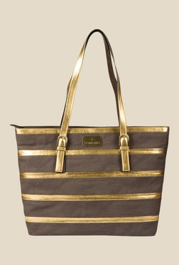 Lomond LM182 Light Brown And Gold Striped Tote Bag