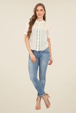 Honey & B Off White Lace Shirt