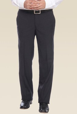 Raymond Blue Slim Fit Mid Rise Trouser