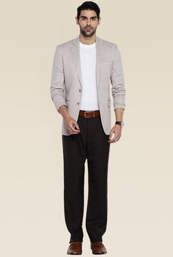 Park Avenue Black Flat Front Trouser