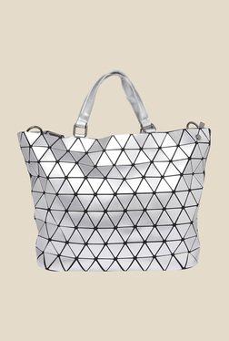 Fur Jaden Silver Retro Mischief Tote Bag