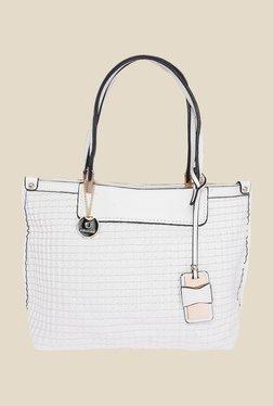 Fur Jaden White Solid Tote Bag
