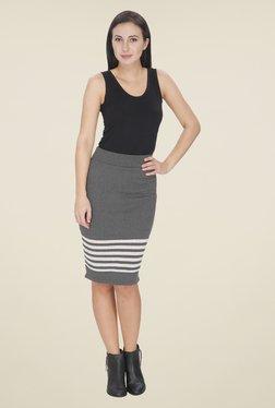 Leo Sansini Grey Striped Skirt