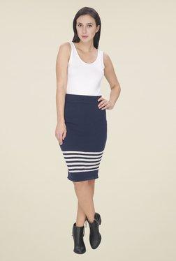 Leo Sansini Navy Striped Skirt