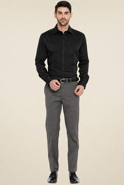 Park Avenue Black Slim Fit Cotton Shirt