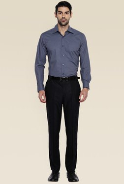 Raymond Blue Slim Fit Cotton Cotton Shirt