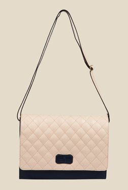 Lomond LM50 Navy And Beige Quilted Sling Bag