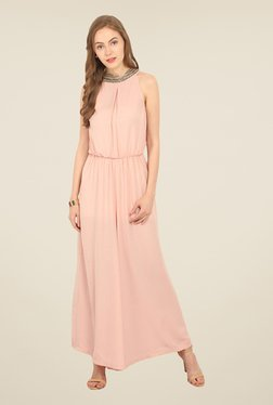 Honey & B Peach Embellished Jumpsuit