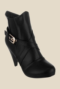 Shuz Touch Black Casual Booties