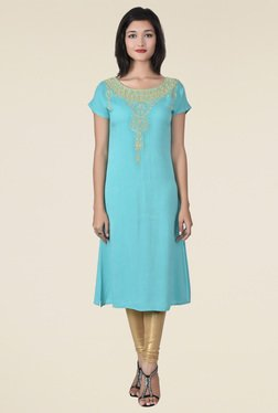 Juniper Turquoise Embroidered Kurta