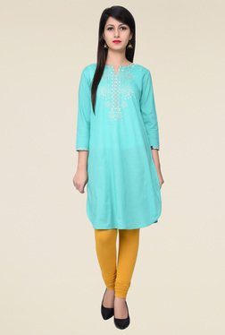 Juniper Green Embroidered Kurta