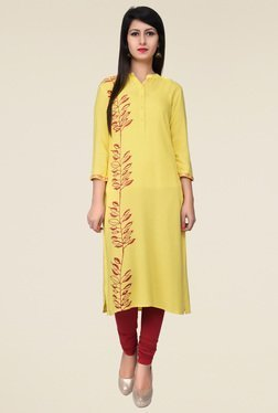 Juniper Yellow Long Kurta