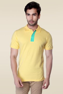 Lucfashion Yellow Shirt Collar Cotton T-Shirt