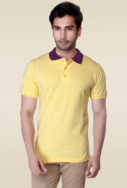 Lucfashion Yellow Shirt Collar T-Shirt