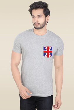 Lucfashion Grey Half Sleeves Graphic T-Shirt