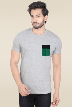 Lucfashion Grey Half Sleeves Graphic Cotton T-Shirt