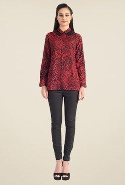 Satya Paul Red Animal Print Shirt - Club SP