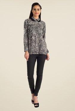 Satya Paul Black Animal Print Shirt - Club SP
