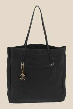 Fur Jaden Black Solid Tote Bag