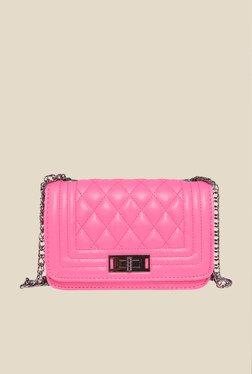 Fur Jaden Pink Quilted Sling Bag