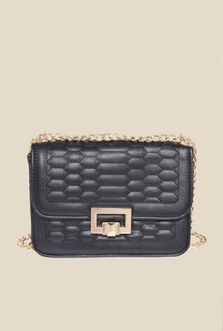 Fur Jaden Black Quilted Bag