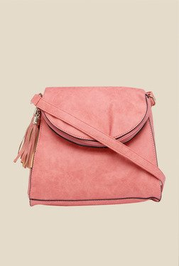 Fur Jaden Pink Side Fringe Saddle Bag