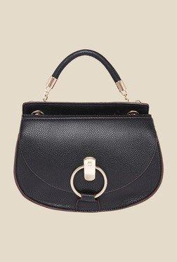 Fur Jaden Black Solid Sling Bag