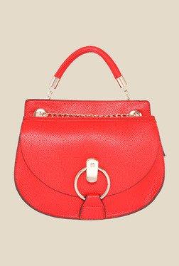 Fur Jaden Red Solid Sling Bag