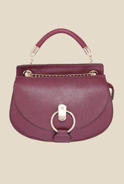 Fur Jaden Wine Solid Sling Bag