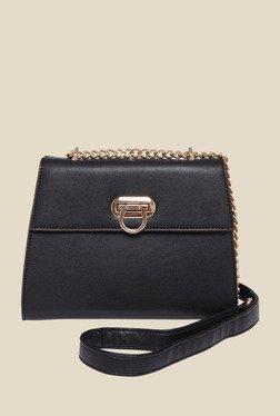 Fur Jaden Black Solid Sling Bag - Mp000000000844136