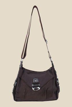 Shoetopia Brown Solid Sling Bag