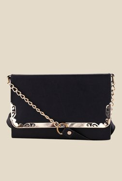 Shoetopia Black Frame Design Sling Bag