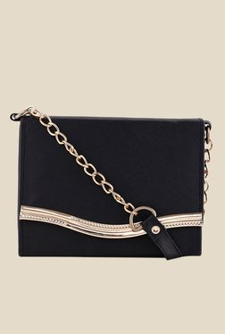 Shoetopia Black Chain Strap Sling Bag