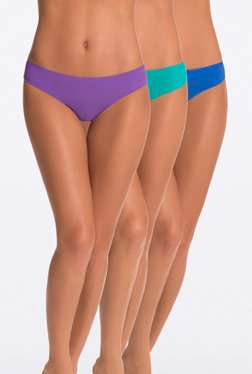 PrettySecrets Purple, Turquoise & Blue Hipsters (Pack Of 3)
