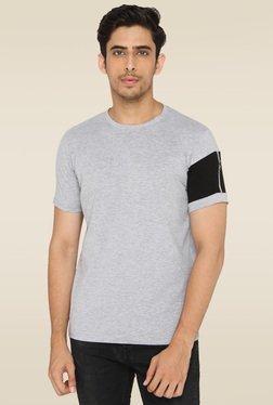 Lucfashion Grey Half Sleeves Regular Fit T-Shirt