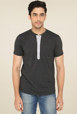 Lucfashion Grey Half Sleeves T-Shirt