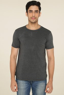 Lucfashion Grey Half Sleeves Round Neck T-Shirt
