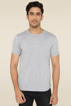 Lucfashion Grey Half Sleeves Cotton T-Shirt