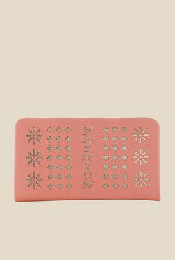 Shoetopia Pink Laser Cut Design Wallet