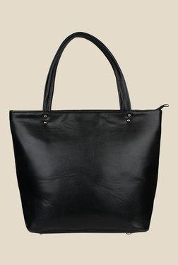 Shoetopia Black Double Handle Tote Bag