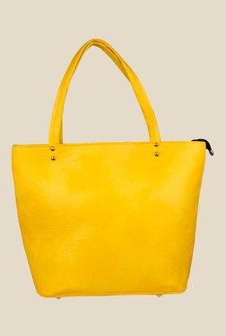 Shoetopia Yellow Double Handle Tote Bag