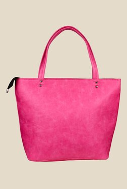 Shoetopia Pink Double Handle Tote Bag
