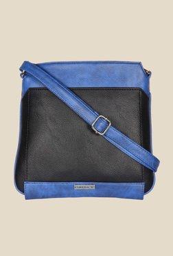 Esbeda Black And Blue Top Zip Sling Bag