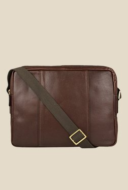 Hidesign Alfred 03 Brown Leather Messenger Bag