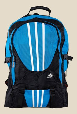 Shoetopia Blue And Black Stripe Backpack
