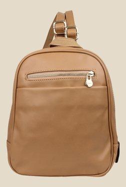 Shoetopia Brown Solid Backpack